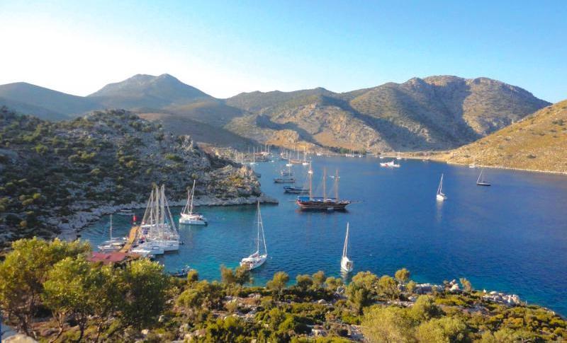 Маршрут на яхте по Турции из Мармариса